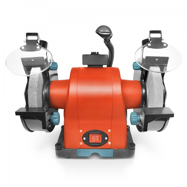520 Watt Doppelschleifer mit Arbeitsleuchte - 200mm K36/K80