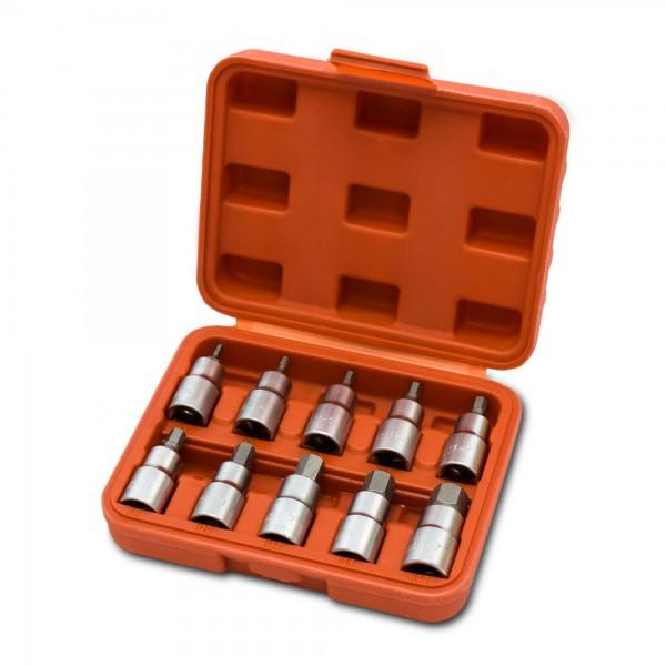 "10 tlg Innensechskant Steckschlüsselsatz 1/2"" (3 - 17 mm)"