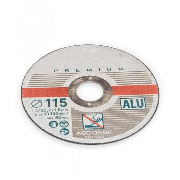 115 mm Trennscheibe für Aluminium - 1 mm Dicke