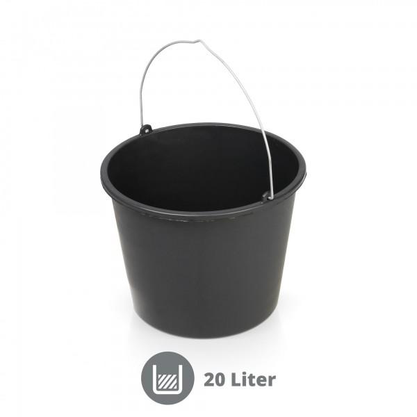 Mörteleimer 20 Liter schwarz