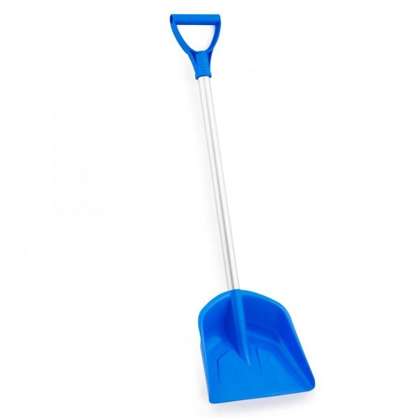 Kunststoff Kinderschaufel mit 71 cm Alustiel - Farbe: blau