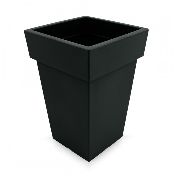 Kunststoff Blumentopf quadratisch - anthrazit - Höhe 439 mm