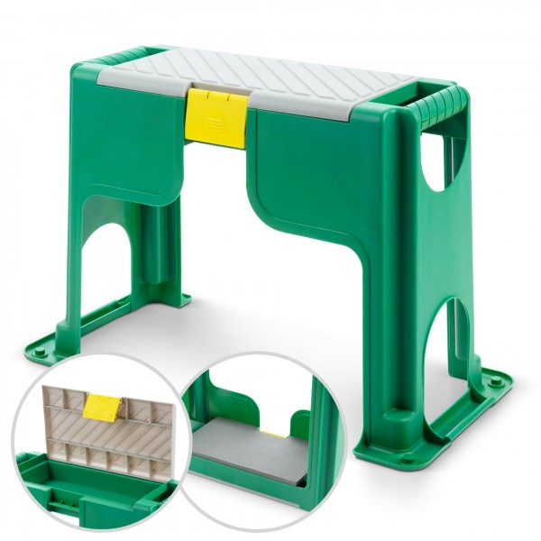 Kunststoff Kniebank/Hocker mit Ablagefach und Schaumstoffkissen