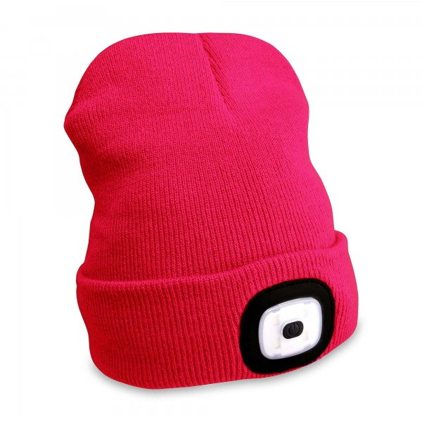 Mütze mit LED-Licht rosa 45 lm - USB Aufladung