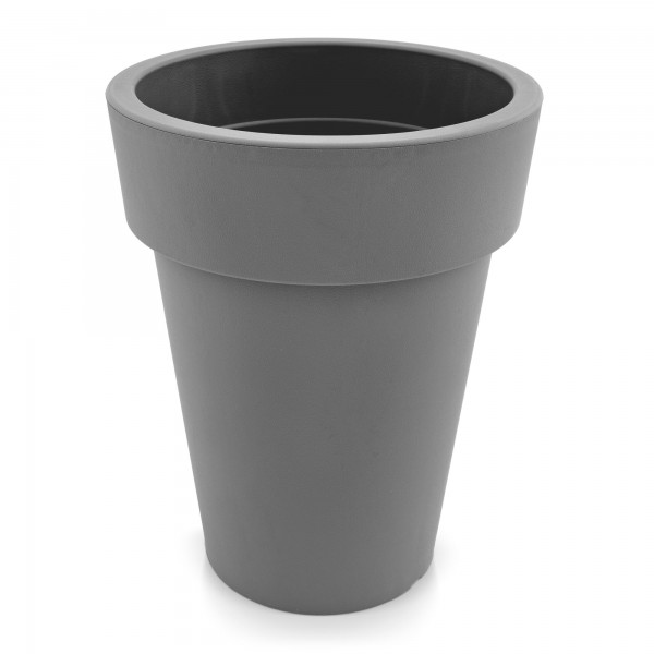 Kunststoff Blumentopf schmal grau - Höhe 319 mm