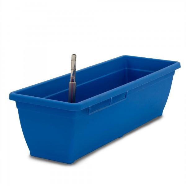 Bewässerungskasten 60 cm AquaToscana blau + Wasserstandsanzeiger
