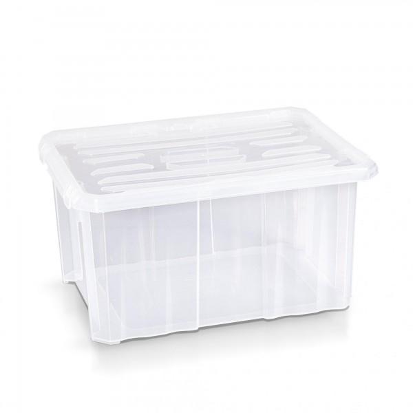 Aufbewahrungsbox + Deckel 40 x 30 x 20 cm transparent