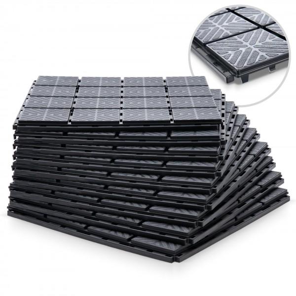 Kunststoff Beetplatten - 1,5 qm - schwarz - 400 x 400 x 20 mm