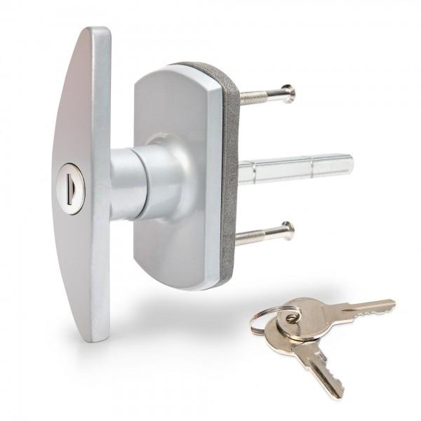 Garagentor Schließgriff mit 75mm Vierkant - 2 Schlüssel