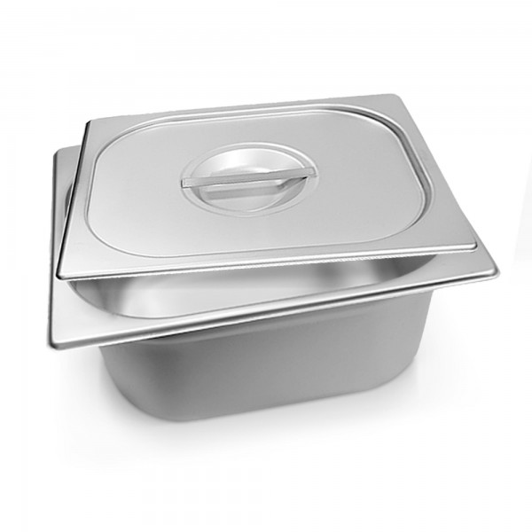 Schengler 1/2 GN-Behälter + Deckel Edelstahl 150 mm tief - 9,5 Liter