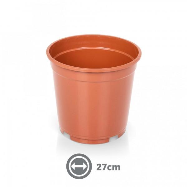 Containertopf 27 cm 10,0 l terracotta