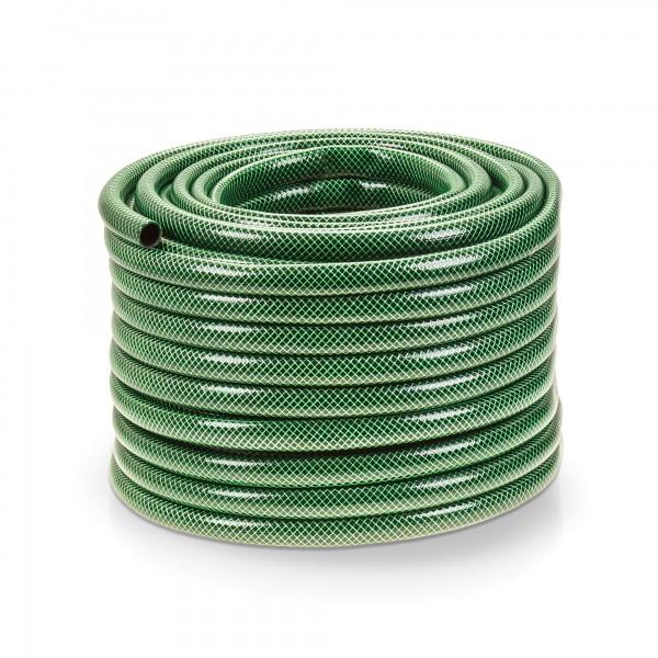 50 Meter Kreuzgewebe Gartenschlauch - 3/4 Zoll - dunkelgrün