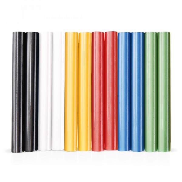 12x Heißklebestick bunt (6 Farben x 2 Stück) Ø 11x100mm