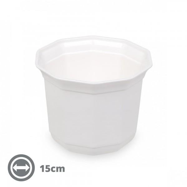 [Ausgelistet] Übertopf CLASSIC 15 cm weiß
