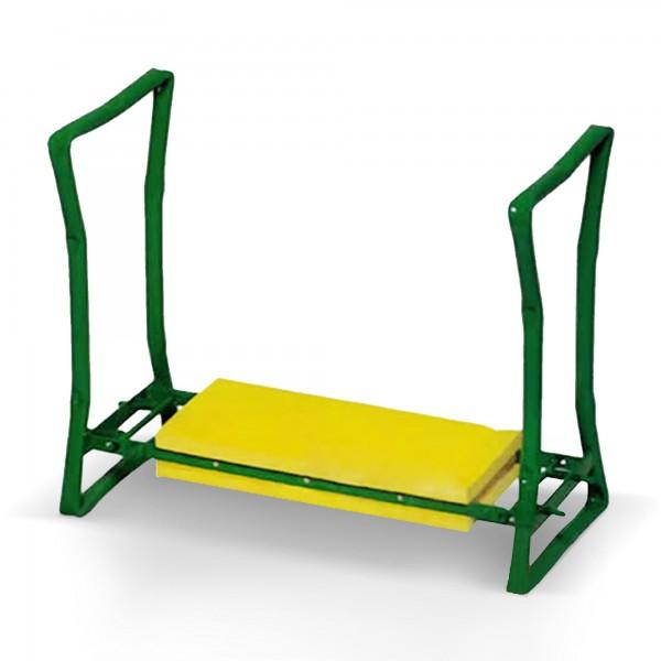 Klappbare Kniebank mit Schaumstoff-Kniekissen - 54 x 25 x 41 cm