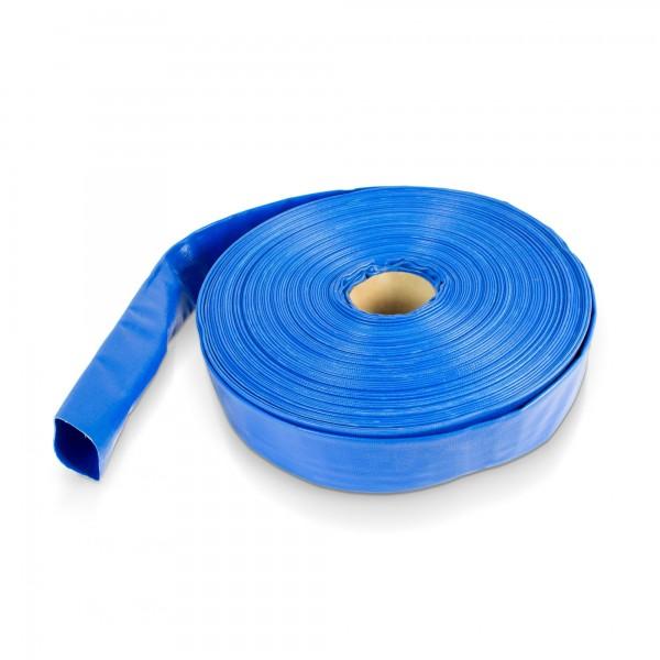 50 Meter - PVC Flachschlauch blau - 2 Zoll - wetterfest / UV-beständig
