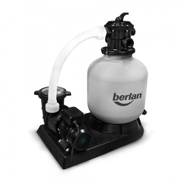 Berlan XL - Sandfilteranlage mit 550 Watt Pumpe für 48 bis 64 m³ Pools