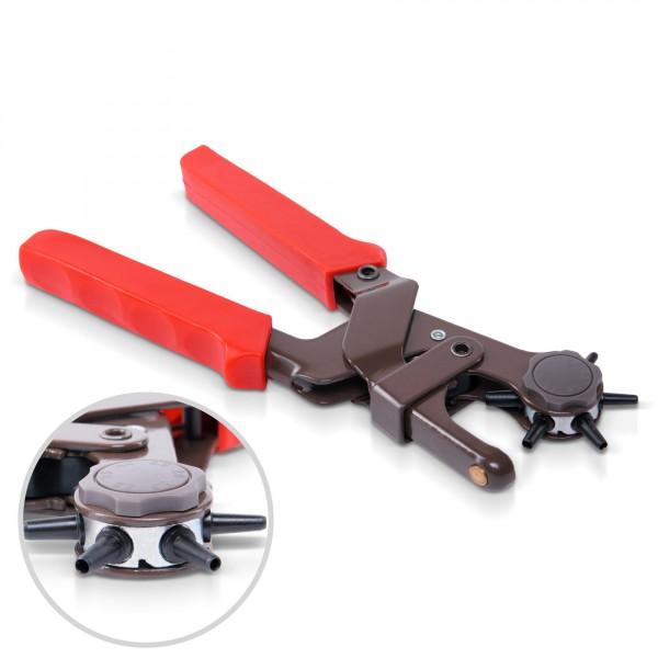 Revolverlochzange Pro mit Hebelübersetzung - 6 Lochgrößen - 240 mm