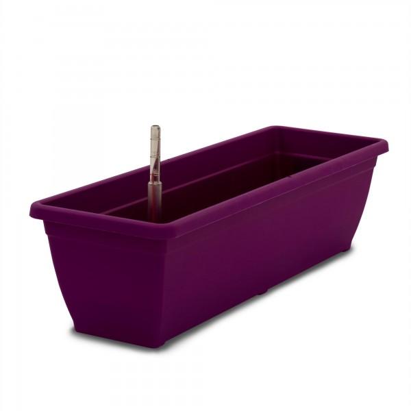 Bewässerungskasten 60 cm AquaToscana purple + Wasserstandsanzeiger