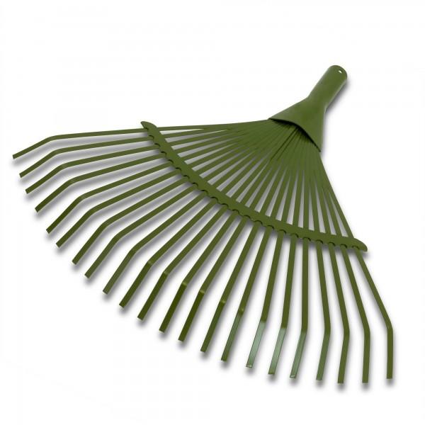 Fächerbesen mit 22 Federdrahtzinken - 45 cm