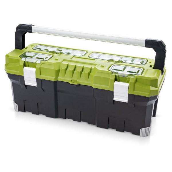 Premium Kunststoff Werkzeugkoffer 752 x 300 x 304 mm - schwarz/grün