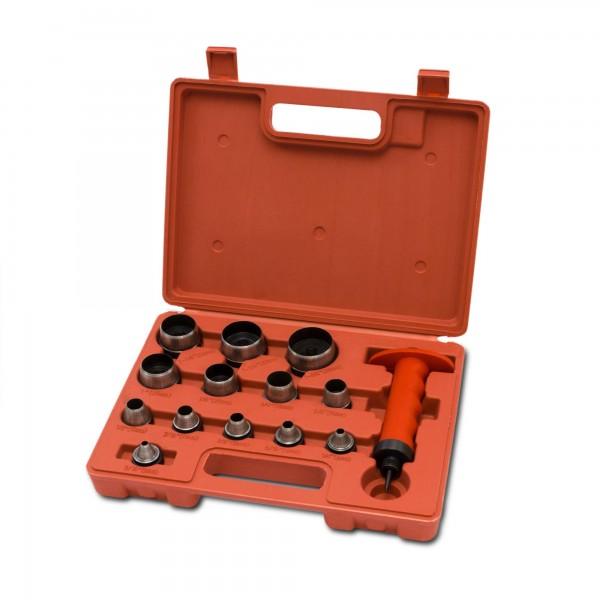 13 tlg. Lochstanzensatz (5 - 35 mm) im Koffer