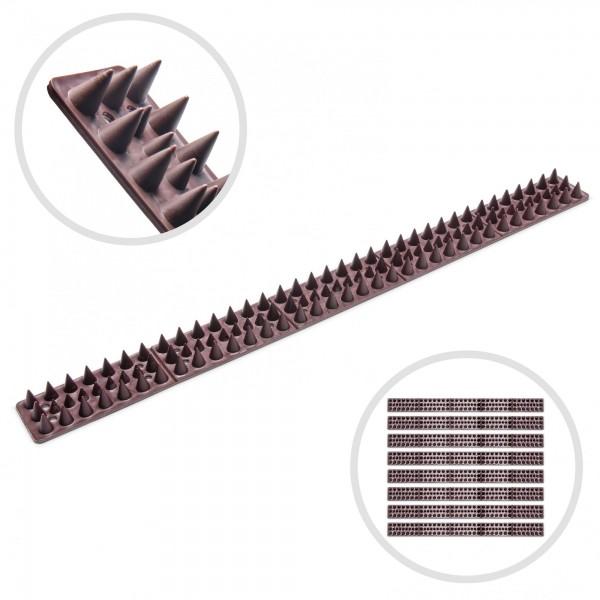 8er Pack Stachelstreifen für Mauern, Zäune, Tore - 490 mm