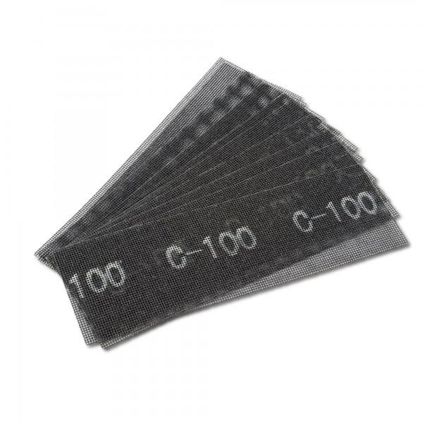 10 x Schleifgitter für Handschleifer - 280 x 93 mm - K100
