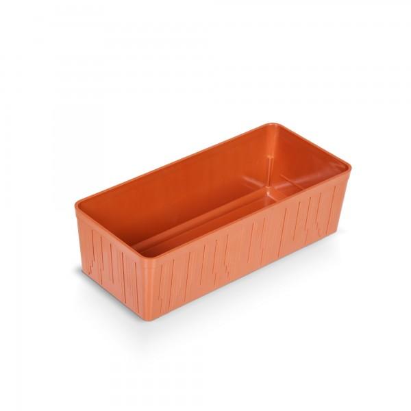 Kakteenkasten 20 cm - terracotta