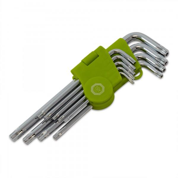 9 tlg. Torxschlüsselsatz - Größen T10 - T50