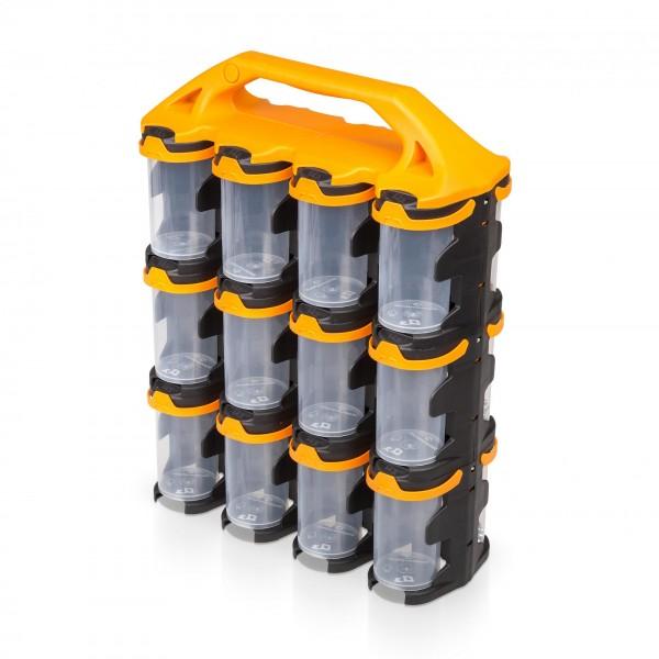 Kleinteilemagazin mit 24 Behältern - je 210 ml Volumen
