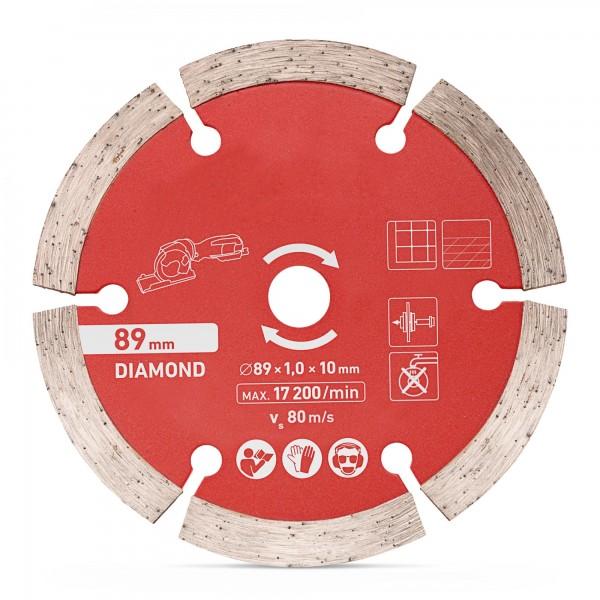 Diamanttrennscheibe Ø 89 x 1,0 x 10 mm
