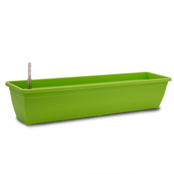 Bewässerungskasten 80 cm AquaToscana grün + Wasserstandsanzeiger