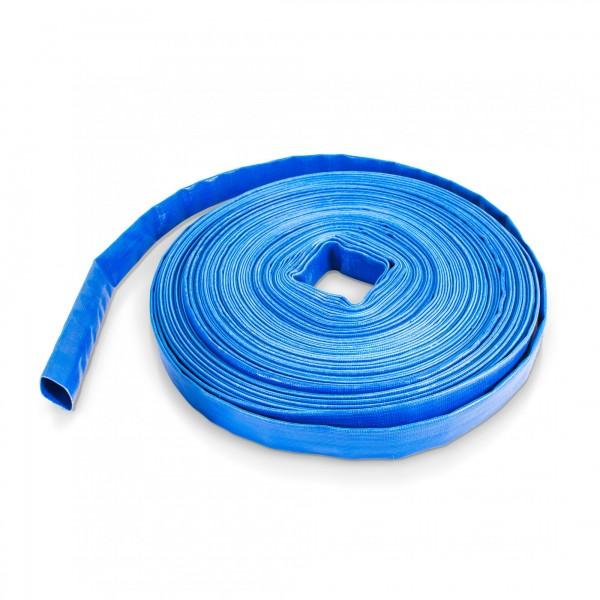 50 Meter - PVC Flachschlauch blau - 1 Zoll - wetterfest / UV-beständig