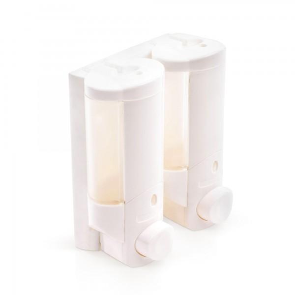 420 ml Duo-Seifenspender - weiß - 16 x 14,5 x 6,5 cm