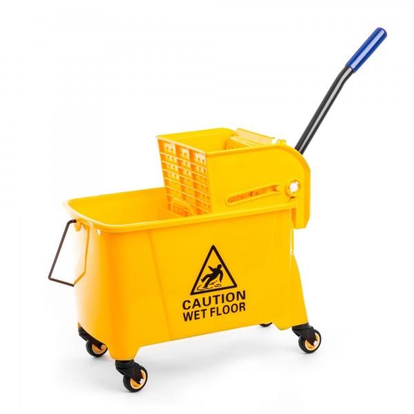 Kunststoff Reinigungswagen mit Auspresser - 20 Liter - gelb