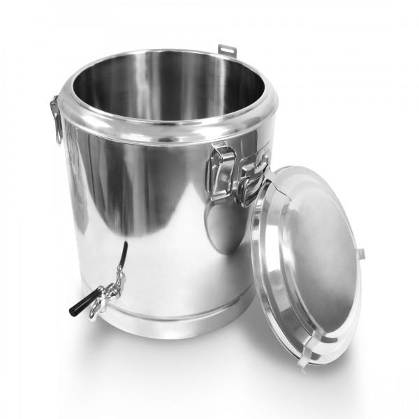 Schengler Edelstahl Thermobehälter 38,5 Liter - 40 x 45 cm + Deckel