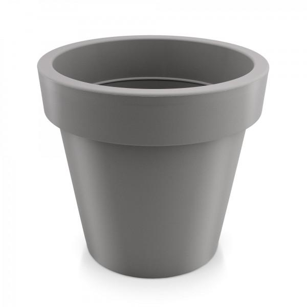 Kunststoff Blumentopf - grau - Höhe 120 mm