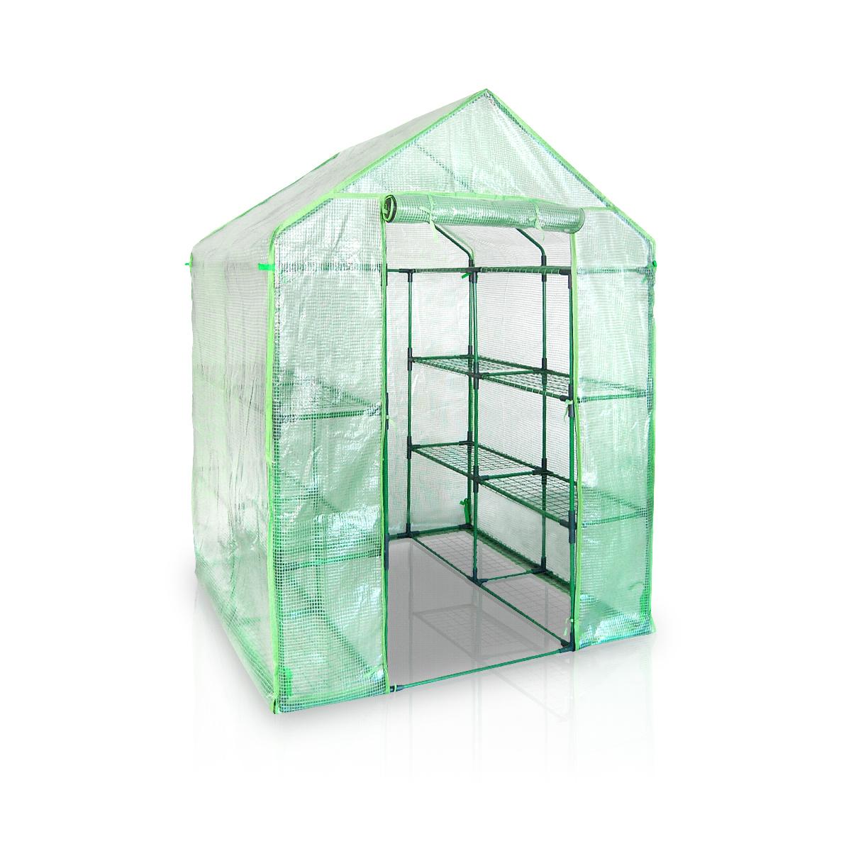 folien gew chshaus bgh143x143 pe begehbar mit regal. Black Bedroom Furniture Sets. Home Design Ideas