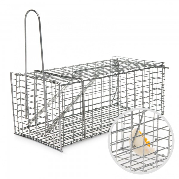 Käfig-Rattenfalle - tierfreundliche Lebendfalle - 250 x 90 x 90 mm