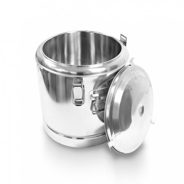 Schengler Edelstahl Thermobehälter 20,5 Liter - 35 x 35 cm + Deckel