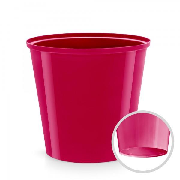 Kunststoff Blumentopf - rotviolett - 130 mm Durchmesser - rund