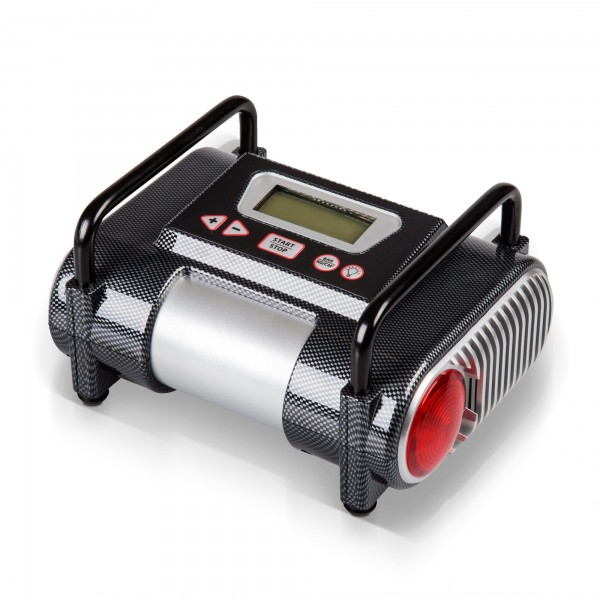 Digitaler 12 Volt Kompressor - 6,9 bar mit LCD Display