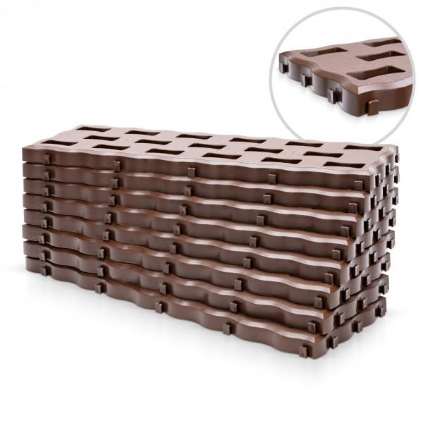 Kunststoff Beetplatten - 0,95 qm - braun - 600 x 200 x 25 mm
