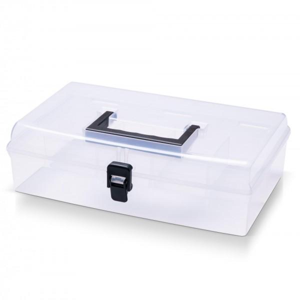 Kunststoff Sortimentskasten transparent mit 5 Fächern - 295x180x85 mm