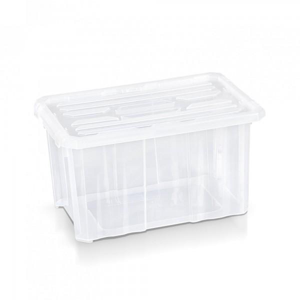 Aufbewahrungsbox + Deckel 30 x 20 x 16,5 cm transparent