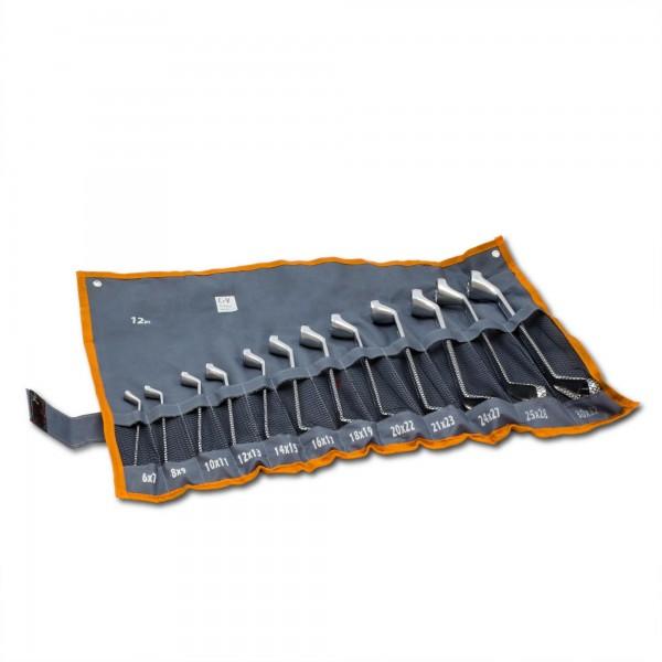 12 tlg. CV Doppel-Ringschlüsselsatz (6 - 32 mm) + Rolltasche
