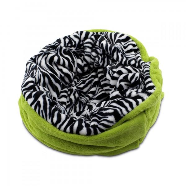 3in1 Decke - Schlafsack - Kissen für Hunde und Kleintiere - Fleece - Grün