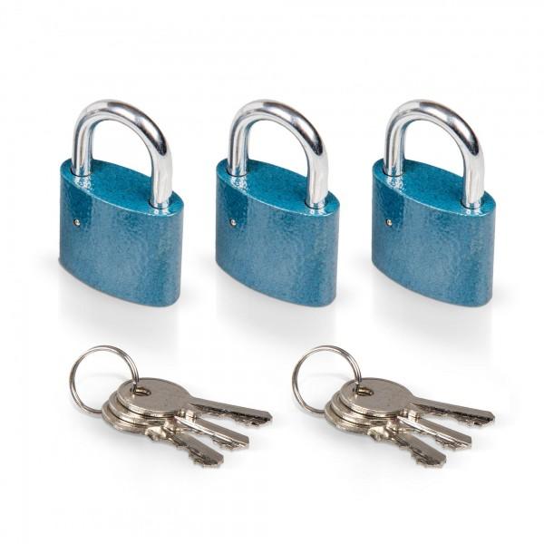 3 x Vorhängeschloss 38 mm inkl. 6 Schlüssel