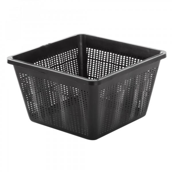 Kunststoff Wasserpflanzenkorb - schwarz - 22 x 22 x 13 cm